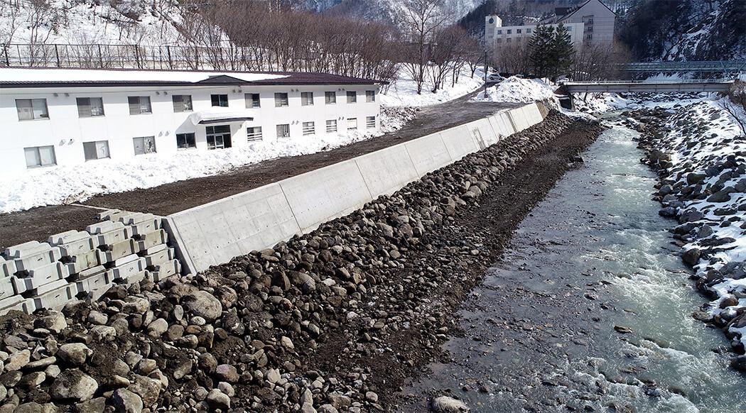 石狩川災害復旧工事